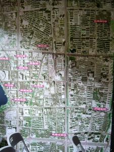 plan model of current Hangzhou landmarks at monument building | from drezier's blog [歷史舊物:大韓民國臨時政府杭州舊址紀念館] dated 2016/7/30