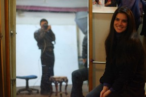 second model at smile | from drezier's blog [Shooting Session for 2012 Spring Collection in Dongguan] dated 2011/12/31