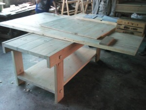 overview of raw vintage display unit | from drezier's blog [Progress in Making of Furniture and fixture of Sanlitun Flagship Store in Beijing] dated 2010/9/25