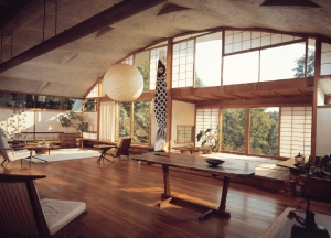 George Nakashima studio at New Hope, Pennsylvania   from drezier's blog [20th Century Masterpieces : : Conoid Chair] dated 2017/7/22